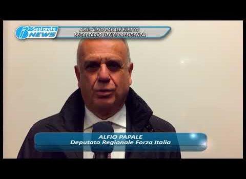 ARS, ALFIO PAPALE ELETTO SEGRETARIO UFFICI PRESIDENZA