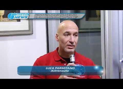 """ASTRONAUTA PARMITANO A CATANIA PER FIRMA COPIE SUO LIBRO """"VOLARE"""""""