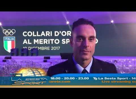 """Paolo Pizzo premiato con il """"Collare d'oro al merito sportivo"""""""