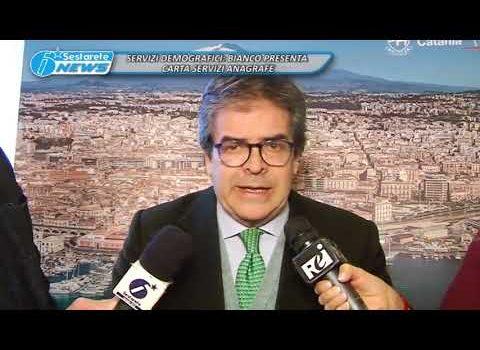 SERVIZI DEMOGRAFICI, BIANCO PRESENTA CARTA SERVIZI ANAGRAFE